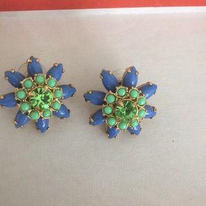 Jcrew colorful button earrings